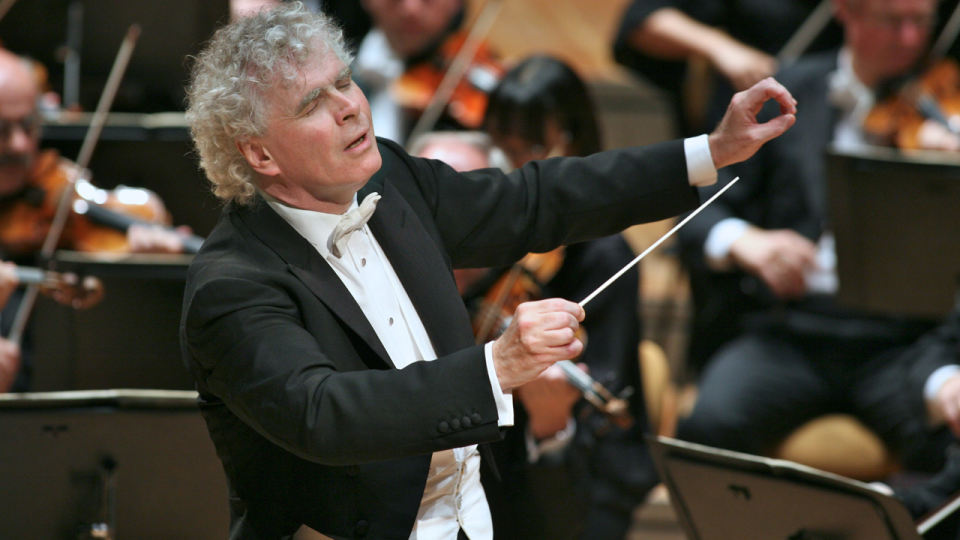 Sir Simon Rattle conducts Mahler and Beethoven