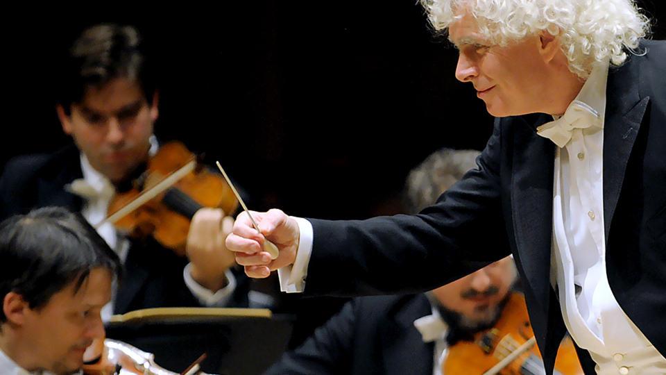 Simon Rattle dirigiert Beethoven, Haydn und Widmann