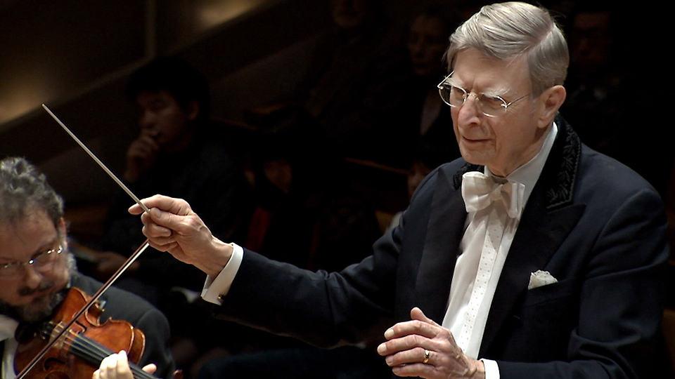 Herbert Blomstedt dirigiert Bruckner und Hindemith